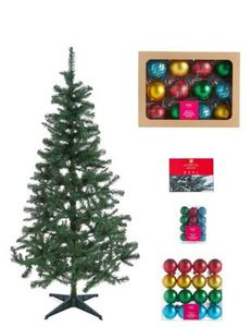 M&S Christmas Tree Bundles - Includes 6ft Tree, Baubles & Lights