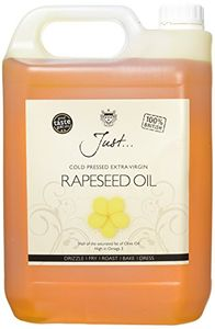 Just Cold Pressed Extra Virgin Rapeseed Oil 5 Litre