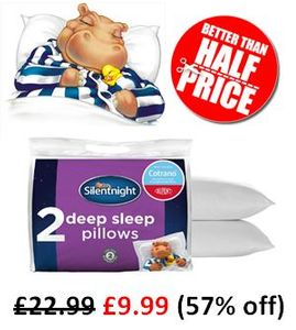 BETTER than HALF PRICE! Silentnight Deep Sleep Pillows (2 PACK)