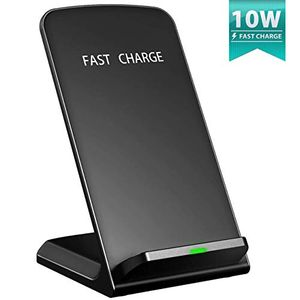 Fast Wireless Charger, [Qi Certified 10W] Amazon Lightning Deal