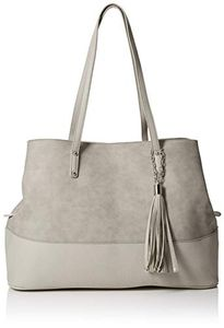 Dorothy Perkins Womens Tassel Panel Messenger Bag Grey