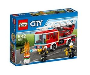 Hover to Zoom LEGO City - Fire Ladder Truck - 60107