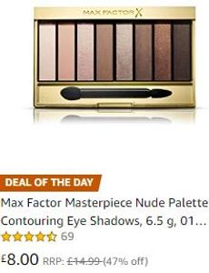 ALMOST HALF PRICE TODAY -Max Factor Eye Shadows Palette , Cappuccino Nudes