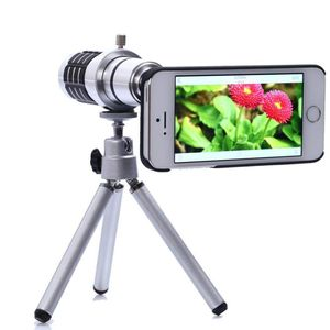 12x Optical Zoom Universal Smartphone Telephoto Telescope Lens with Tripod