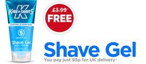 Free King Of Shaves Shaving Gel (95p P&P)