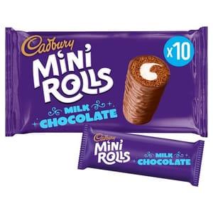 Cadburys Chocolate Mini Rolls 10 Pack