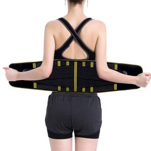 Belt for Back Support Adjustable Double Pull Black