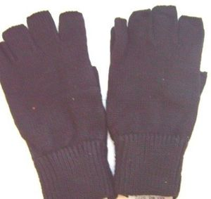 Black Thermal Fingerless Mens Gloves