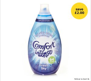 Comfort Intense Fabric Conditioner Fresh Sky 64 Washes Only £2.50