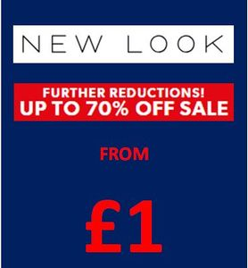 From £1! NEW LOOK SALE - FURTHER REDUCTIONS