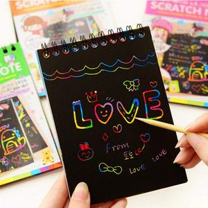 Notebook Writing Paper with Wooden Stylus (Random Color)