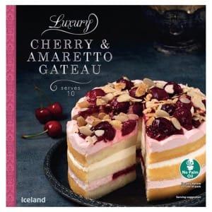 Iceland Luxury Cherry & Amaretto Gateau 798g