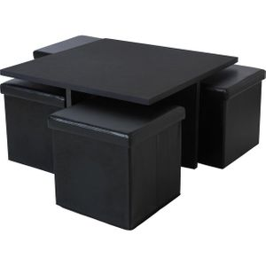 Argos Home Ohio Ottoman Coffee Table - Black
