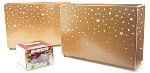 2 X Official Yankee Candle Magical Christmas Starry Nights Gold Multi