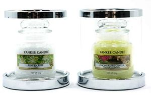 Yankee Candle 2 X Official Glamourous Silver Shimmering Twinkling Snowflake