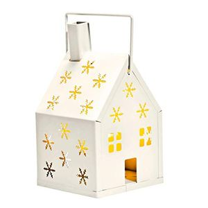*STACK DEAL* House Candle Holder with Snowflake Design