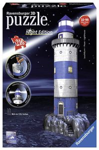 Ravensburger Lighthouse - Night Edition, 216pc 3D Jigsaw Puzzle