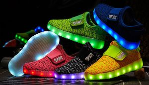 Kids LED Coloured Trainers - 8 Colours