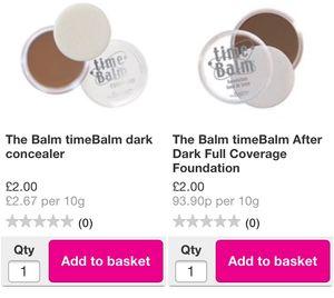 The Balm Cosmetics- Everything £2. Very Limited Items Left
