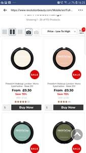 Revolution Make-up Sale