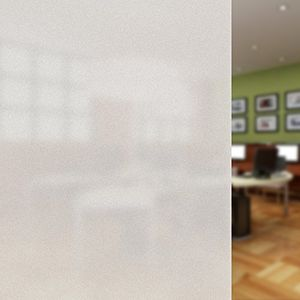 Privacy Window Film Frosted, CUH Non Adhesive Decorative Self Static