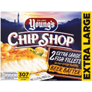Young's Chip Shop 2 Battered Fish Steaks