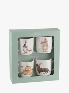 *HALF PRICE* Royal Worcester Wrendale Christmas Animal Mugs, Set of 4
