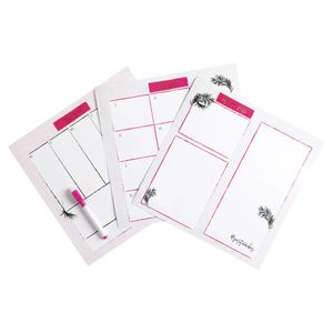 Wilko Hypernatural White Board Planner with Pen
