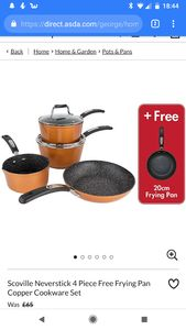 Scoville Neverstick 4 Piece Pan Set with Free Frying Pan