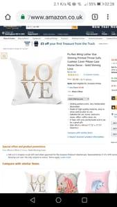 """""""LOVE"""" Cushion Cover"""