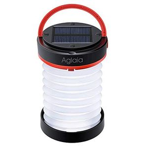 Solar & USB Collapsible Rechargeable LED Lamp with 800mAh Power Bank