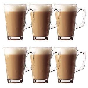 Set of 6 Latte Glasses