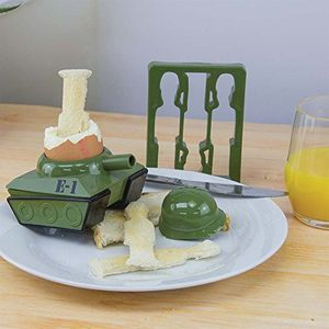 Paladone Products Egg - Splode Tank Egg Cup and Toast Cutter