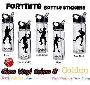 Fortnite Personalized Vinyl Stickers for Drinks Bottle