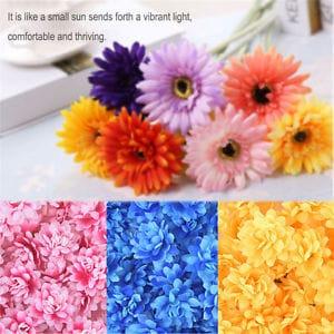 50pcs Artificial Chrysanthemum Fake Silk Flower