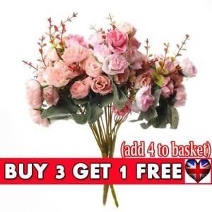 21 Heads Artificial Fake Rose Bouquet Silk Flower
