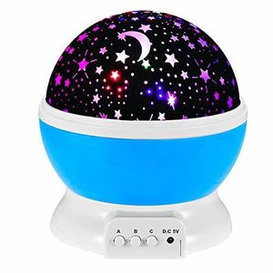 Kids Night Light Lamp, Stars and Moon Projector