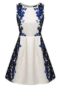 Vintage Floral Spring Garden Party Picnic Dress