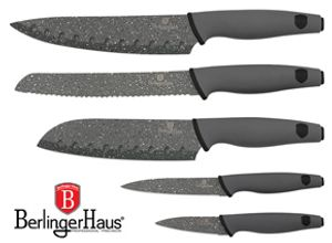 5 Peice Diamond Granite Berlinguer Knife Set