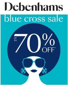 Debenhams Blue Cross Sale - Live Online Now!