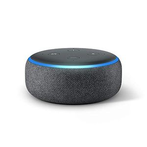 2 for £59 All-New Echo Dot (3rd Gen)-Smart Speaker with Alexa - Charcoal Fabric
