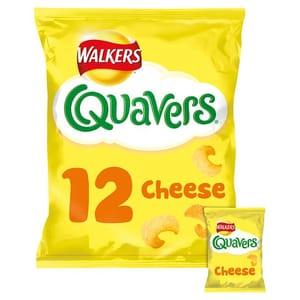 Walkers Quavers Cheese Snacks 12 X 16 G