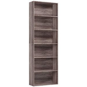 6 Tier Bookcase Bookshelf Storage Shelving Unit (Dark Oak)
