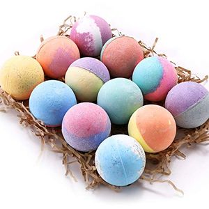 Anjou Natural 12 Bath Bombs Set - Paraben Free with Natural Essential Oils