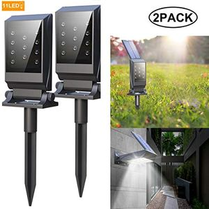 Deal Stack! Free Solar Spotlights Outdoor, Super Bright 11 LEDs