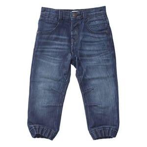 Outfit Kids - Boys' Blue mid Wash Cuffed Hem Jeans