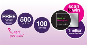 Free Health & Beautycard Points