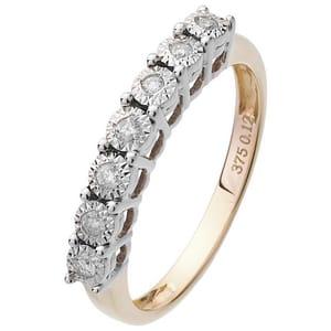 Revere 9ct Gold 0.12ct Tw Eternity Ring
