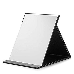 OMIRO Large Folding Mirror,Travel Makeup Mirror with Adjustable Stand