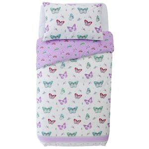 Argos Home Ditsy Butterfly Cotton Rich Bedding Set - Single